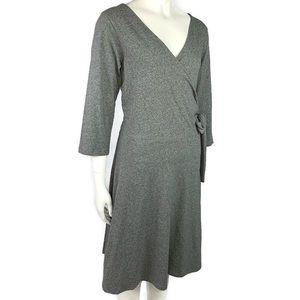 Synergy Classic Gray Ashley Wrap Dress Size L